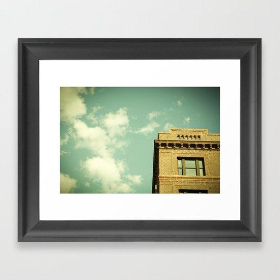 Green Skies Framed Art Print