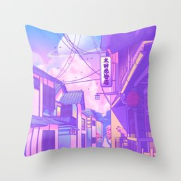 City Pop Kyoto Throw Pillow