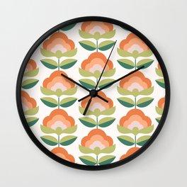 Sunshine Flowers Wall Clock