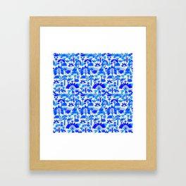 Exotic Garden Blue Framed Art Print