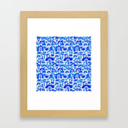 Exotic Garden Blue Framed Art Print