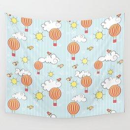 hot air balloon Wall Tapestry