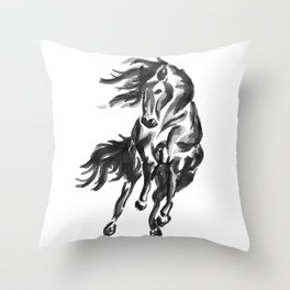 Sumi Horse Throw Pillow