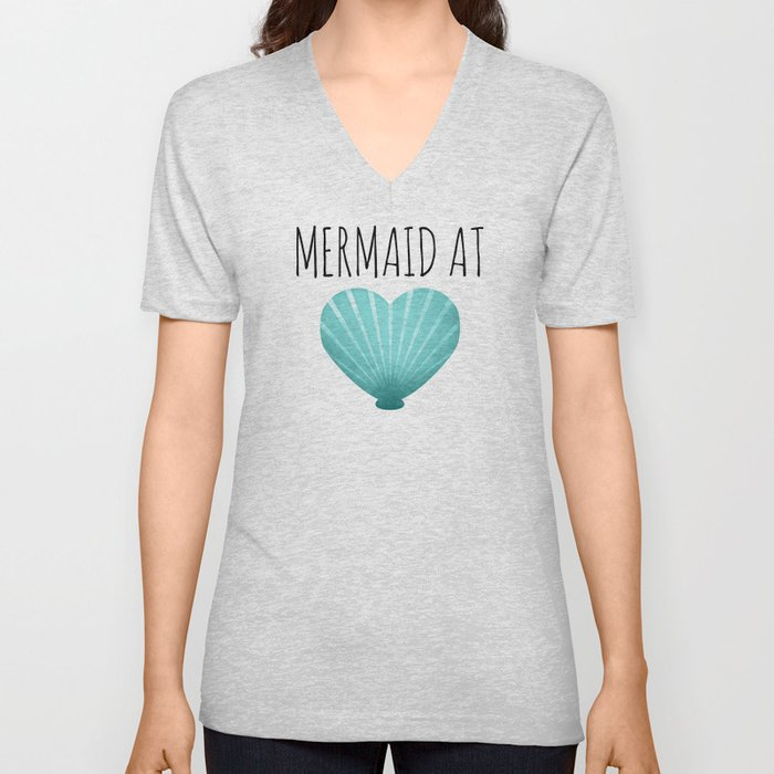 Mermaid At Heart  |  Teal Unisex V-Neck