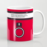 kafka Mugs featuring No013 MY The Trial Book Icon poster by Chungkong