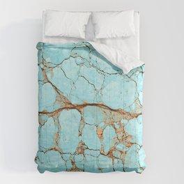 Rusty Cracked Turquoise Comforters
