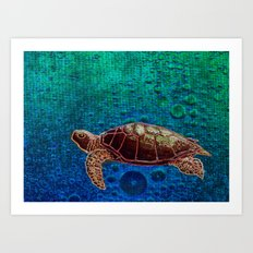 Turtle Patience Art Print