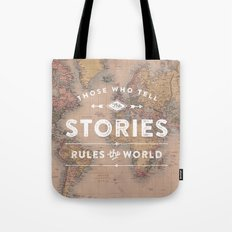 Those who tell the Stories, Rule the World. Tote Bag