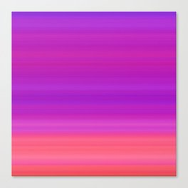 Orange & Purple Stripes | Bright ombre gradient pattern Canvas Print