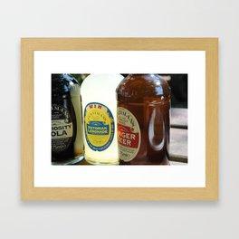Old Style Bottles Framed Art Print