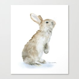 Bunny Rabbit Watercolor Canvas Print