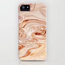 Nude Liquid Marble iPhone Case