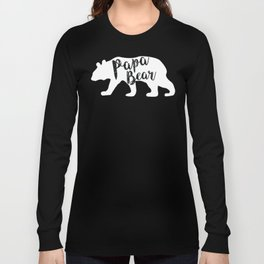 Papa Bear - White Long Sleeve T-shirt