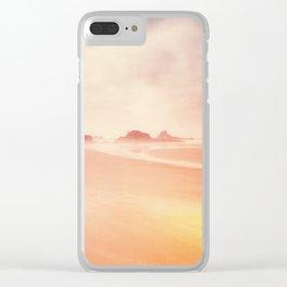 Technicolor Beach Dreams Clear iPhone Case