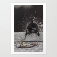 orca Art Prints featuring Orca by Lerson