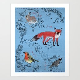 Hide and Seek Forest Art Print