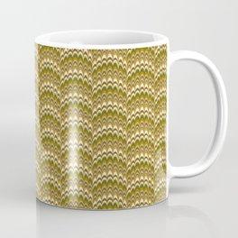 Marbling Comb - Brown Coffee Mug