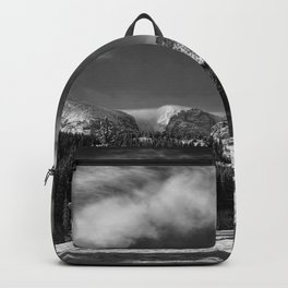 Rocky Mountan Park in Black and White Backpack