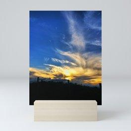 Fence Silhouette Mini Art Print