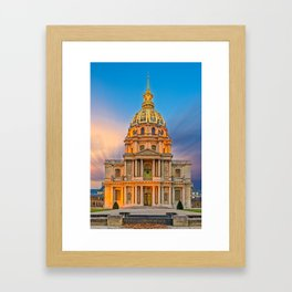Dome church in Paris Framed Art Print
