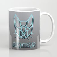 transformer Mugs featuring Autocats Transformers by Enrique Valles