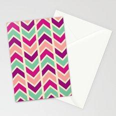 zig zag (purple) Stationery Cards