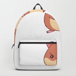 No Wheel Today - Funny Hamster  Backpack