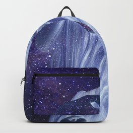 Galaxy girl portrait Backpack