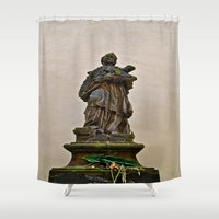 prague Shower Curtains featuring PRAGUE by ALX RUTECKI