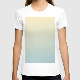 FADING AWAY - Minimal Plain Soft Mood Color Blend Prints T-shirt