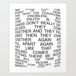 Pass The Test Art Print