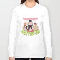 renaissance Long Sleeve T-shirts featuring Mid-Aged Human Renaissance Artists by Dixie Leota