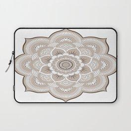 Beige & White Mandala Laptop Sleeve