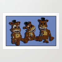 Three Little Freddys Art Print