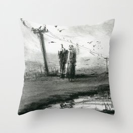 Ink and Carbon Pencil Throw Pillow