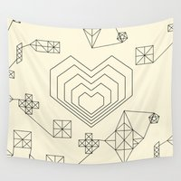 valentine Wall Tapestries featuring Valentine by Leandro Pita