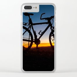 Cycling in thin air. Clear iPhone Case