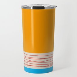 Minimal Retro Pattern Travel Mug