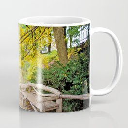 Autumn Bench Meadow Coffee Mug