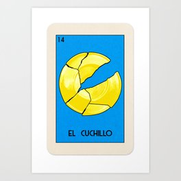 BB Loteria Card No.14 - The Knife Art Print