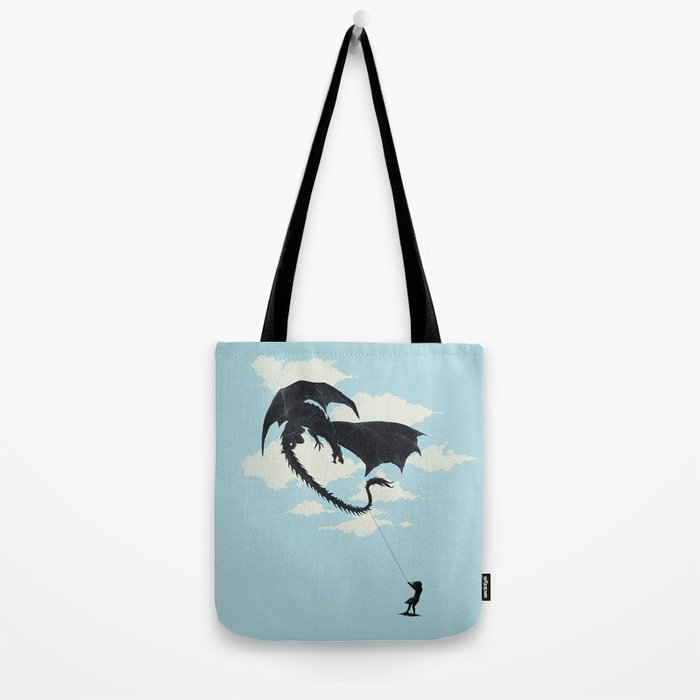 LITTLE GIRL PLAYING Tote Bag