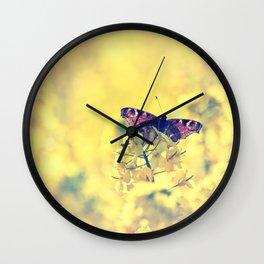 Sunshine and Butterflies Wall Clock