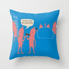 Sausage Party Throw Pillow