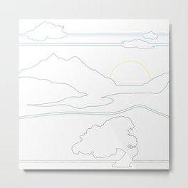 Landsacpe Metal Print