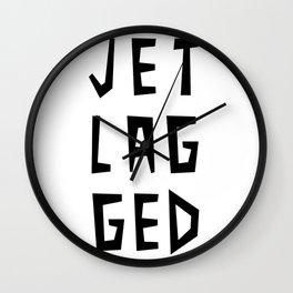 JET LAG GED Wall Clock