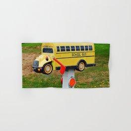 School Bus Mailbox Hand & Bath Towel