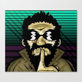 Secret Agent Man, Mr. Wood Canvas Print