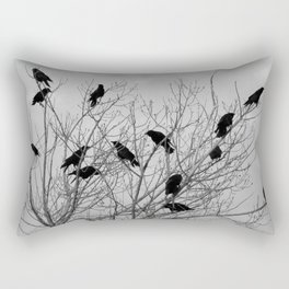 Murder Of Crows - Two Rectangular Pillow