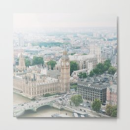 London Skyline, Big Ben, Westminster, Peter Pan Nursery, London Decor, Travel Nursery Metal Print