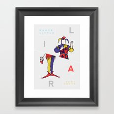 Dance Little Liar Framed Art Print